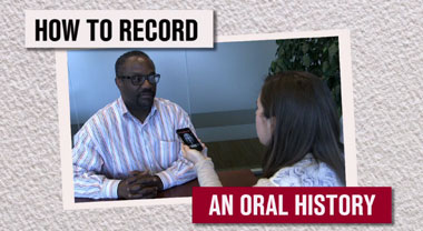 How to record an oral history
