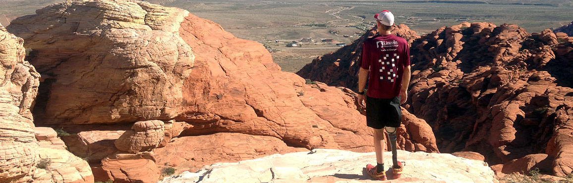 Jeff Glasbrenner looking out over the canyon.