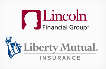 The Liberty Mutual and Lincoln Financial logos combined.