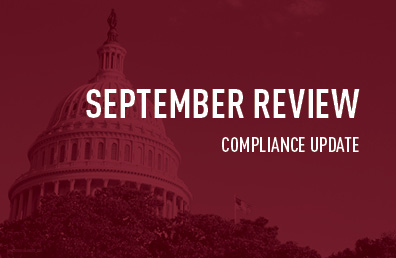 September review compliance update