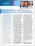 Workplace Mental Health: Research on Preventing Lost Productivity & Work Disability