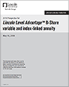 Lincoln Level Advantage B-Share variable and index-linked annuity PDF Clickable Image